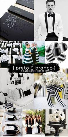 Decoração de Casamento : Paleta de Cores Preto e Branco | http://blogdamariafernanda.com/decoracao-de-casamento-preto-e-branco