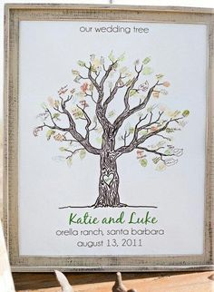 A cute wedding tree of things you've done through the time you and your husband have been together ♡