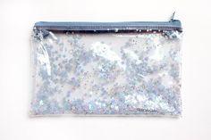 Blauer Stern Federmäppchen transparente Brieftasche von RossMiu