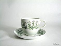 Arabia Demitasse Cup, Finland, Scandinavian Flowers