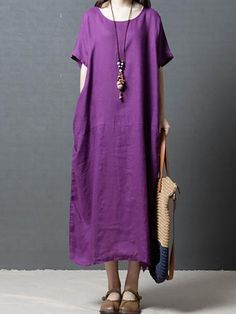 Discover style and comfort with quality linen clothing for women at Linenlooks. Handmade from soft, stone washed linen dresses,linen pants,linen blouse up to Off. Dresses Elegant, Casual Dresses For Women, Dress Casual, Linen Dresses, Cotton Dresses, Maxi Dresses, Cotton Long Dress, Dress Long, Modeling