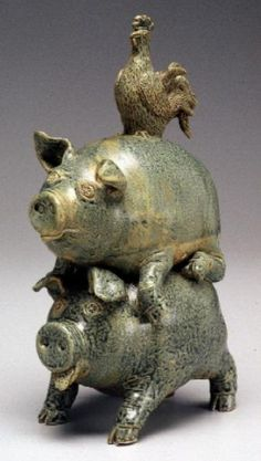 Stacked Pigs - Leftwich Pottery  Mills River, NC This is just off Brickyard Road.  I have been to their shop several times and they have some incredible pieces!  Worth a visit if you are in the area.  Then just go back to Brickyard, take a right and come see me too!!! lol