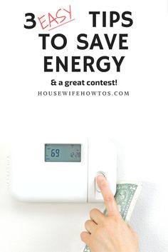 Are you tired of spending so much money on utilities? Check out these three easy tips to save energy, sponsored by Lennox. #ad via @housewifehowtos