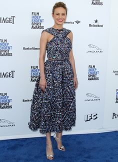 Cele|bitchy | Brie Larson in Chanel at the Spirit Awards: lovely or overworked?