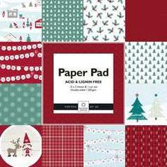 Designblokk 305 mm Red & Green - Papir & Stempler for hobbyentusiasten
