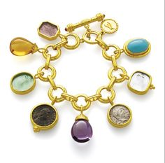 When it comes to charm bracelets, Elizabeth Locke makes some of the most beautiful ones. When it comes to charm bracelets, Elizabeth Locke makes some… Charm Jewelry, Jewelry Box, Vintage Jewelry, Jewelry Accessories, Fine Jewelry, Jewelry Design, Designer Jewelry, Jewlery, Bangle Bracelets