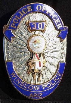 US State of Arizona, City of Winslow Police Department Badge Police Life, Police Cars, Police Badges, Military Police, Police Officer, State Of Arizona, Arizona City, Fire Badge, Law Enforcement Badges
