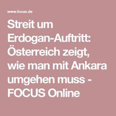 Streit um Erdogan-Auftritt: Österreich zeigt, wie man mit Ankara umgehen muss - FOCUS Online