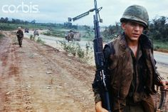 30 Jun 1969, Ben Het, South Vietnam --- US Soldiers Walking Cautiously During Mine Sweeping Operation