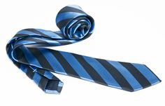 Blue Tie Grey Stripes, Silk Ties - Dress Shirts for Men - French-Shirts.com