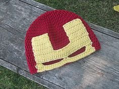 Iron Man Crochet Mask Hat by TheCrazyCuteShop on Etsy, $23.00