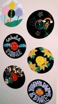 Excited to share this item from my shop: The Starman Record Collection - Hand painted vinyl records/wall decor/painted record/custom wall art Cd Wall Art, Record Wall Art, Cd Art, Vinyl Record Crafts, Vinyl Art, Vinyl Wall Decor, Aesthetic Painting, Aesthetic Room Decor, Custom Wall