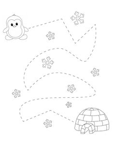 Preschool Worksheets, Preschool Learning, Toddler Preschool, Learning Activities, Preschool Activities, Winter Fun, Winter Theme, Artic Animals, Cultural Crafts