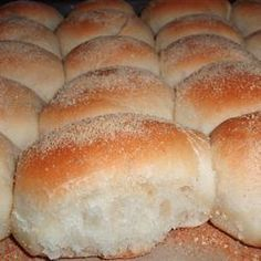 Pan De Sal I Allrecipes.com  Original recipe makes 20 to 30 rollsChange Servings   2 cups warm water (110 degrees F/45 degrees C)   2 teaspoons active dry yeast   1/3 cup white sugar