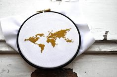 Modern world map cross stich pattern earth globe by hallodribums