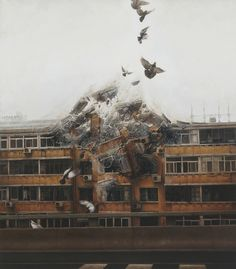 Exhale, by Jeremy Geddes    These incredible hyperrealistic surreal paintings are taken from Jeremy Geddes' upcoming exhibition in New York's Jonathan Levine Gallery entitled, Exhale. The exhibition will include 17 meticulously painted works of art and runs from October 20th until November 17th.