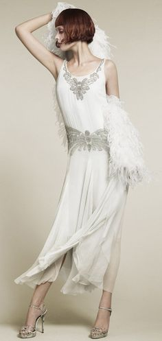 Gorgeous white 20's inspired dress.