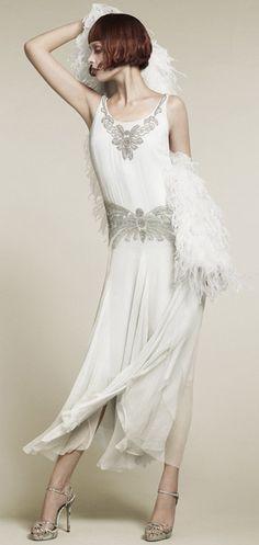 Gorgeous white 20's inspired dress.