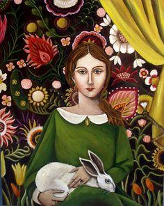 """The Bunny Sitter,"" Catherine Nolin Art"