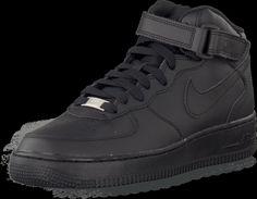 official photos aa60c 2f8eb Köp Nike Air Force 1 Mid (Gs) Black Svarta skor   Höga sneakers för.  FOOTWAY.se