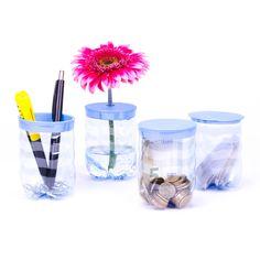 Als Blumenvase, Gewürzdose, Sparschwein, Stiftebox oder als originelle Geschenkverpackung – dem Einfallsreichtum der Benutzer werden beim Vöslauer REbottleSET keine Grenzen gesetzt.