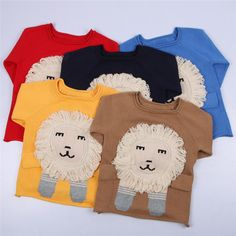 Cool 0-5yrs Kids Knitted Sweater Spring Autumn Boys Girls Children Lion Cartoon Sweater Fashion Personality Cute 100% Cotton Sweater - $37.77 - Buy it Now! Check more at http://kidshopglobal.com/kids-and-baby-shop-online/childrens-clothing/girls-clothing/girls-sweaters/0-5yrs-kids-knitted-sweater-spring-autumn-boys-girls-children-lion-cartoon-sweater-fashion-personality-cute-100-cotton-sweater/