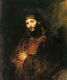 Rembrandt Harmenszoon van Rijn, Dutch, 1606-1669, Christ with Arms Folded, c. 1655-57, oil on canvas, 43 x 35 1/2 in., 1971.37, The Hyde Collection, Glens Falls, NY