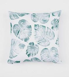 Tropical Leaf Pillow Cover