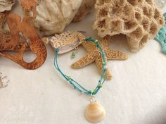 Anklet w/ shell charm by WaterSpirits Jewelry