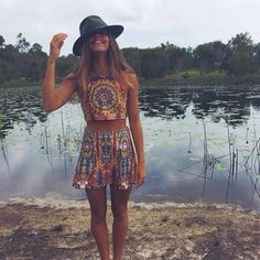 festival boho chic plus the ragu was half off Tumblr Outfits, Indie Outfits, Boho Outfits, Casual Outfits, Skirt Outfits, Boho Hippie, Bohemian Summer, Look Festival, Festival Tops