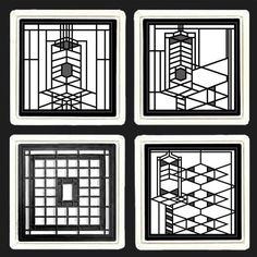 This Frank Lloyd Wright Coaster Gift Set Is Inspired By Four Design Elements From The Frederick C Robie House Chicago Illinois These
