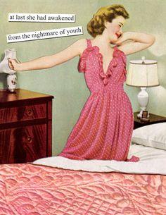 Birthday Humor Retro Anne Taintor Ideas For 2019 Vintage Humor, Retro Humor, Retro Funny, Retro Cartoons, Funny Vintage, Vintage Soul, Vintage Cards, Birthday Greeting Cards, Birthday Greetings