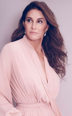Pretty in Pink from Caitlyn Jenner's Best Pics  The pink bathrobe nicely complements her.