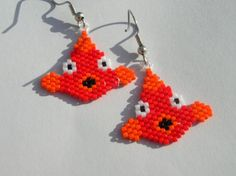 Cutest Fish Seed Beaded Dangle Earrings by fantasybeader on Etsy, $10.00
