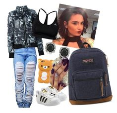 Just Chill by arikaijones on Polyvore featuring polyvore, fashion, style, adidas Originals, adidas, JanSport, Mark Broumand and clothing