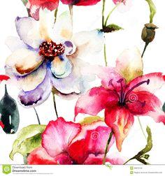 ilustrações flores - Pesquisa Google