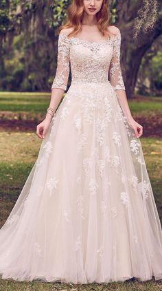 263 Best Sleeved Wedding Dresses images in 2019  5f5b3d793e53