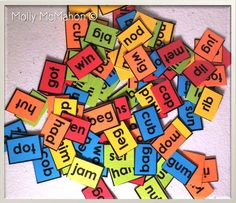 Free! 100 CVC words. Print on colored card-stock paper and cut apart. Let the sorting and phonics activities begin!