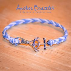 A Mother's Craftuition: Anchor Bracelet, nautical, diy, handmade, jewelry
