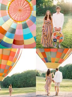 I'd love to fly away in a hot air balloon after my wedding!! ...via Oh Joy