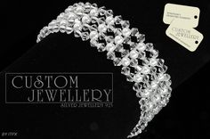#Biżuteria #ślubna na http://www.customjewellery.pl/customjewellery-bransoletka-srebrna-xilion-made-with-swarovski-elements-12885.html zapraszamy
