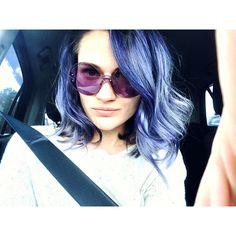 Синие волосы колорирование