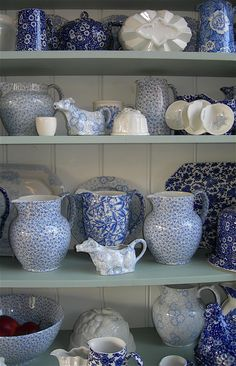 Burleigh Ware on display at their factory shop.