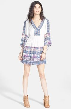 Free People 'Terra Nova' Print Back Cutout Dress available at #Nordstrom