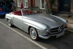 Think i've fallen in love with a car. never had a big car (let alone classic car) thing really...but saw 2 girls driving what i think was one of these & i developed a little crush. Random! So...one day...maybe... ;).  (Mercedes 190SL)