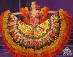 Vestido llanero, traje típico de la llanera venezolana