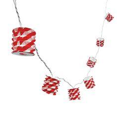 Red & White Paper Lantern Light String - OrientalTrading.com