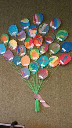 Onderwijs en zo voort ........: 6127. Verjaardagskalenders: Hand met ballonnen