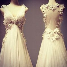 Love the front as much as the back! #flowers #weddingdress #weddingideas…
