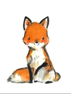 Woodland Nursery Decor, Woodland Art, Little Red Giclee Print, Kit Chase Artwork, Art And Illustration, Fuchs Illustration, Portrait Illustration, Woodland Art, Woodland Nursery Decor, Animal Drawings, Cute Drawings, Draw Realistic, Dibujos Cute